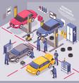 auto service isometric
