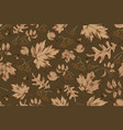 autumn seamless pattern with leaf background vector image vector image