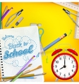 Back to School template concept EPS 10 vector image vector image