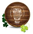 barrel beer vector image