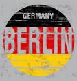 berlin tee poster graphic design vector image vector image