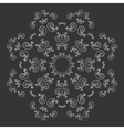 Black and white ornate flower pattern vector image
