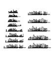 black city icons set vector image vector image