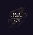 black friday sale gold glitter shiny particles vector image