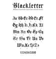 blackletter font vector image vector image