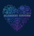 blogger review heart colorful linear vector image