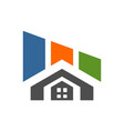 building residence home logo concept icon vector image vector image