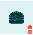 Burger icon isolated vector image vector image