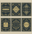 crown vintage cards royal victorian style posters vector image