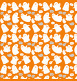 cute ghosts on orange background halloween vector image