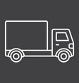 delivery truck line icon transport and vehicle vector image