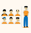 different face style men vector image vector image