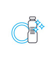 dishwashing liquid linear icon concept vector image