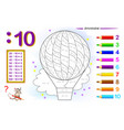 division number 10 math exercises for kids vector image vector image