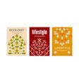 ecology lifestyle card templates original design vector image