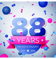 Eighty eight years anniversary celebration on grey vector image vector image