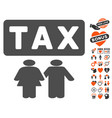 family tax pressure icon with valentine bonus vector image vector image