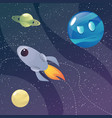 funny cartoon colorful planets set vector image