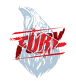 Fury sign with crow head vector image vector image