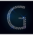 Gems G letter Shiny diamond font vector image vector image