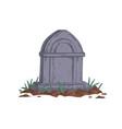 gravestone unmarked vintage grave medieval vector image vector image