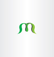 green logotype logo m letter m sign icon vector image