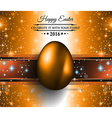 happy easter background with a colorful egg vector image vector image