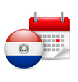 Icon of National Day in Paraguay vector image vector image