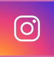 instagram icon white vector image vector image