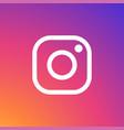 instagram icon white vector image vector image