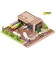 isometric warehouse building vector image