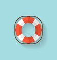 Lifebuoy flat web icon vector image
