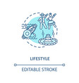 lifestyle turquoise concept icon vector image vector image