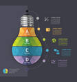 light bulb modern infographic template vector image vector image