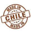 made in chile brown grunge round stamp vector image vector image
