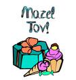 mazel tov inscription hebrew vector image vector image