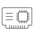 microchip thin line icon cpu vector image