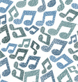 Music theme seamless pattern with notes repeating vector image vector image