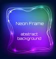 neon light frame vector image