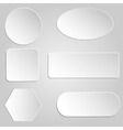 paper buttons vector image vector image