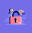 password security icon key protection and open vector image vector image