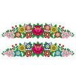 polish folk art floral long decoration vector image vector image