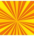 Pop art cartoon retro blast sunburst vector image vector image