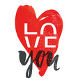 Print for T-shirt Love you vector image