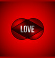 red love bubble badge vector image