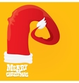 red Santa hat merry christmas card vector image vector image