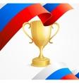Russia Winning Golden Cup Concept vector image vector image