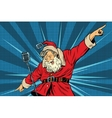 Santa Claus superstar singer on stage vector image vector image