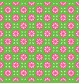 seamless pattern abstract simple flower vector image vector image