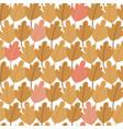 seamless pattern hand drawn autumn oak leaves vector image